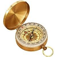 carwin 方位磁针 羅針盤 方位磁石 方向指示 コンパス 黄銅合金 アウトドア キャンプ 登山 ハイキング【夜光】
