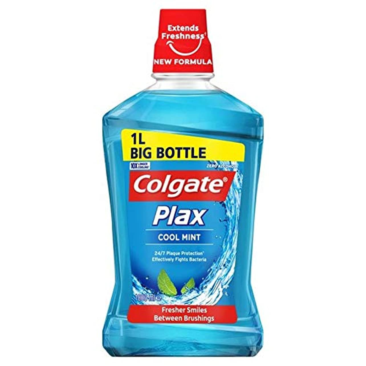 転倒百科事典必需品[Colgate ] コルゲートPlaxクールミントマウスウォッシュ1リットル - Colgate Plax Cool Mint Mouthwash 1L [並行輸入品]