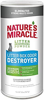 Nature's Miracle NMI05857 Litter Box Odor Destroyer Powder Just For Cats,