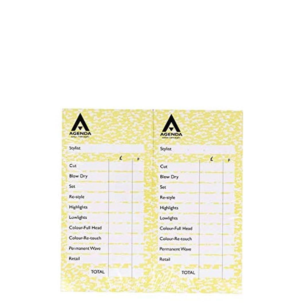 イタリック宿泊鎮痛剤アジェンダ サロンコンセプト チェックパッドイエロー12x100リーフ[海外直送品] [並行輸入品]