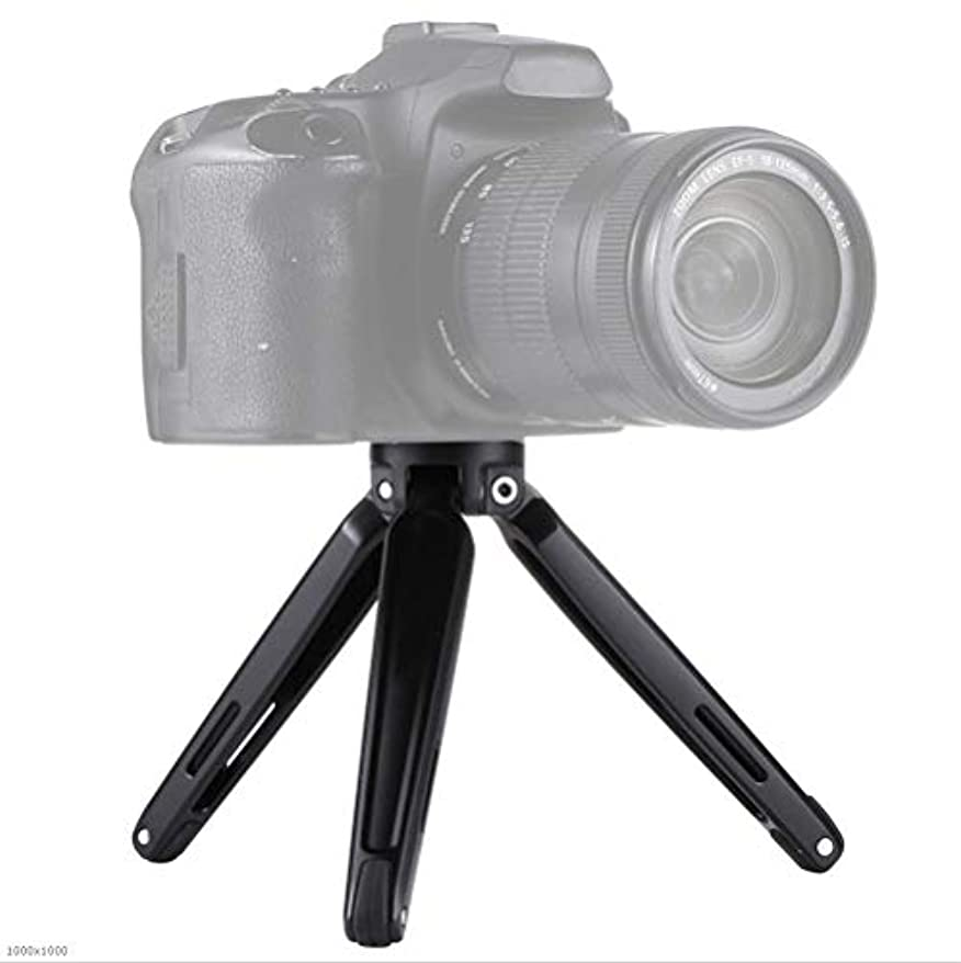 撤回する製品臨検カメラ機材三脚 ミニメタルデスクトップデスクトップ三脚マウント用デジタル一眼レフカメラの4.5?15センチメートル 幅広い使用と携帯性 (色 : Black, Size : One size)