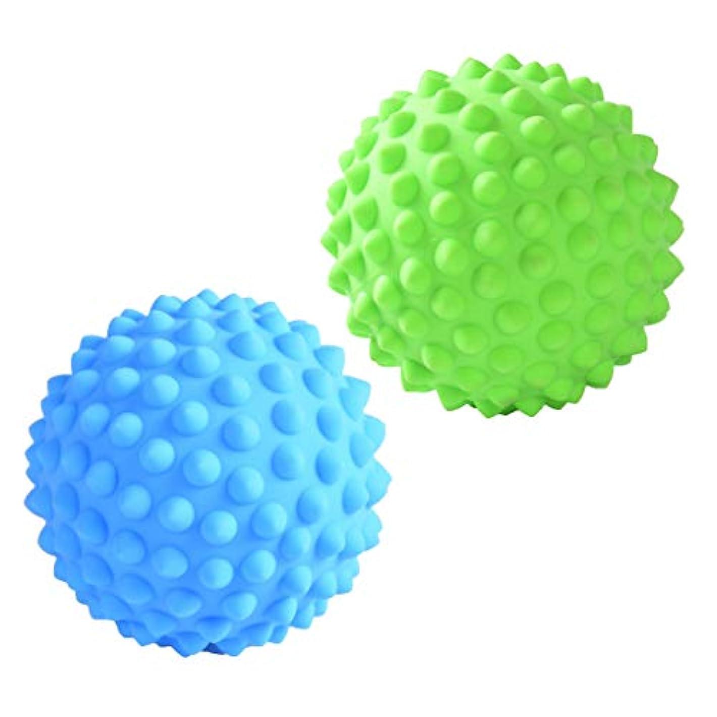 カバレッジ感謝するタイマーD DOLITY マッサージローラーボール マッサージローラー 指圧ボール トリガーポイント ツボ押しグッズ 2個入