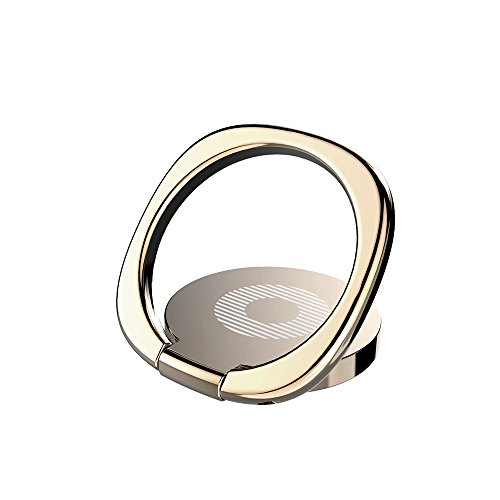 KYOKA スマホ リング ホールドリング 薄型 スタンド機能 落下防止 車載ホルダー 360回転 iPhone/Android各種他対応 (ゴールド)