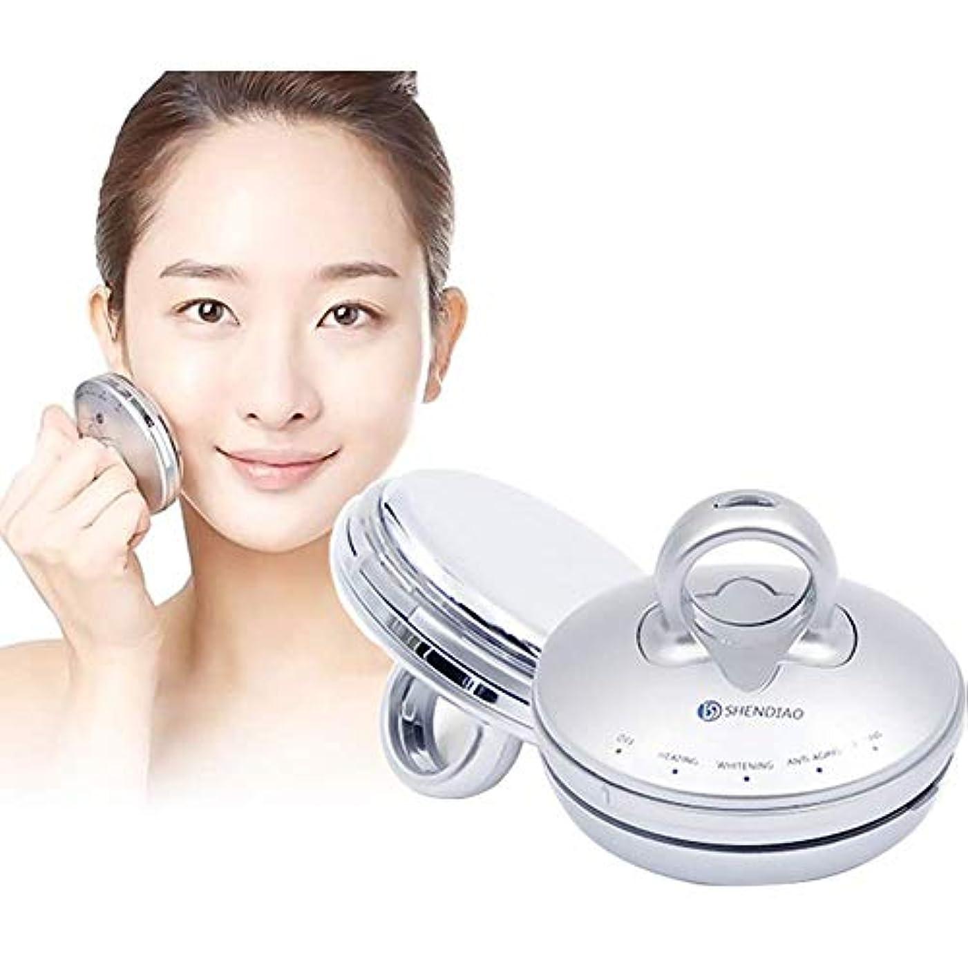 滑りやすいマント本質的に美のマッサージャー、顔のマッサージャーの振動美装置の顔のしわのスキンケアの上昇の反老化の白くなるマッサージャー