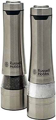 Russell Hobbs RHPK4000 Salt And Pepper Mills, Brushed, Silver