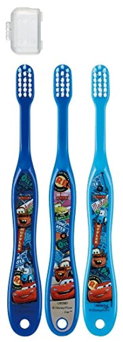 方法カビ彫刻スケーター 歯ブラシ 園児用 3-5才 毛の硬さ普通 3本組 カーズ 15 TB5T