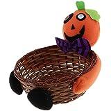 B Blesiya キャンディバスケット ギフトバッグ 装飾 家庭  ハロウィーン 4仕様選べ - オレンジ