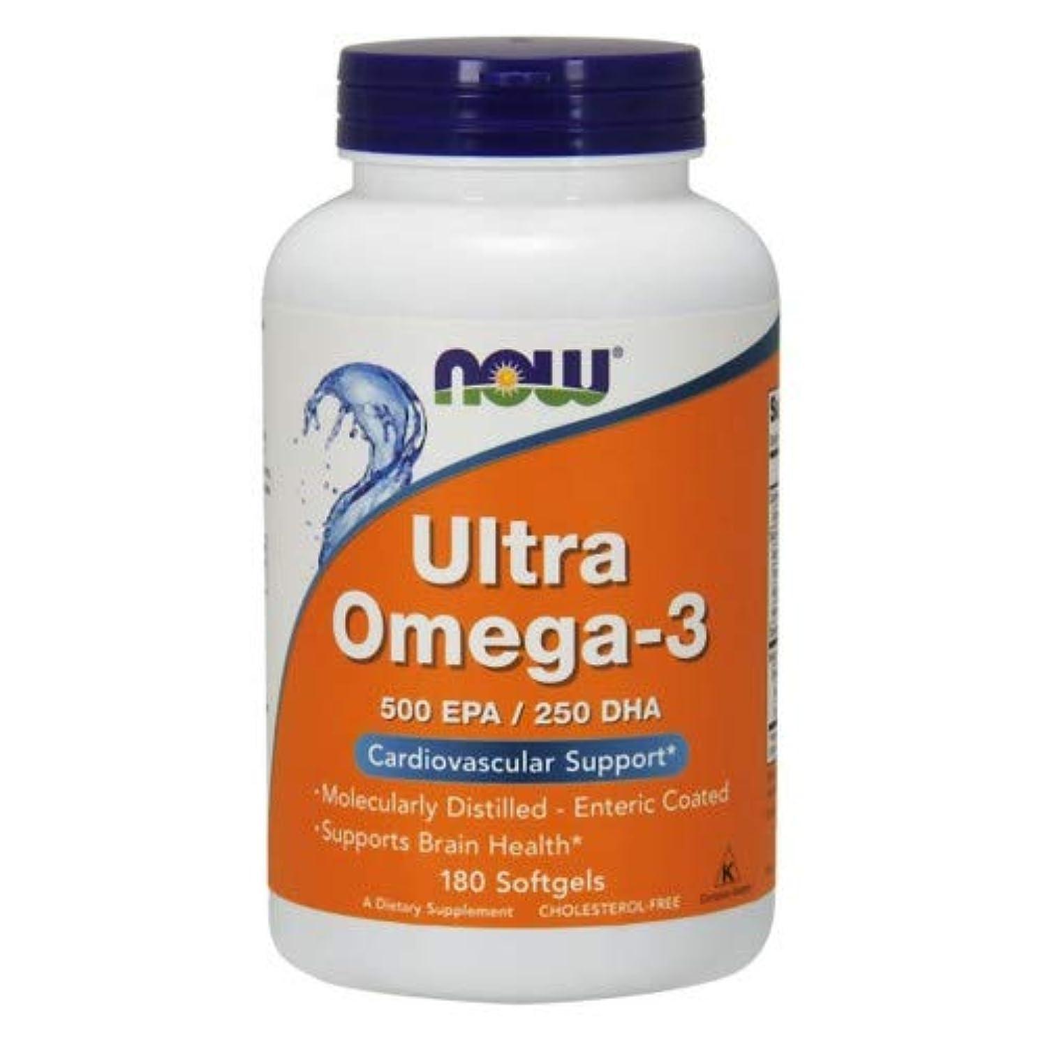 圧力明るい空いているUltra Omega-3 180 sgels 3個パック