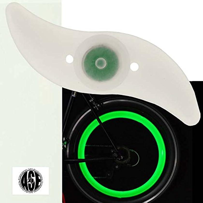 原告約消毒する自転車スポークLEDライトグリーン1個綺麗な光の輪できる as20015