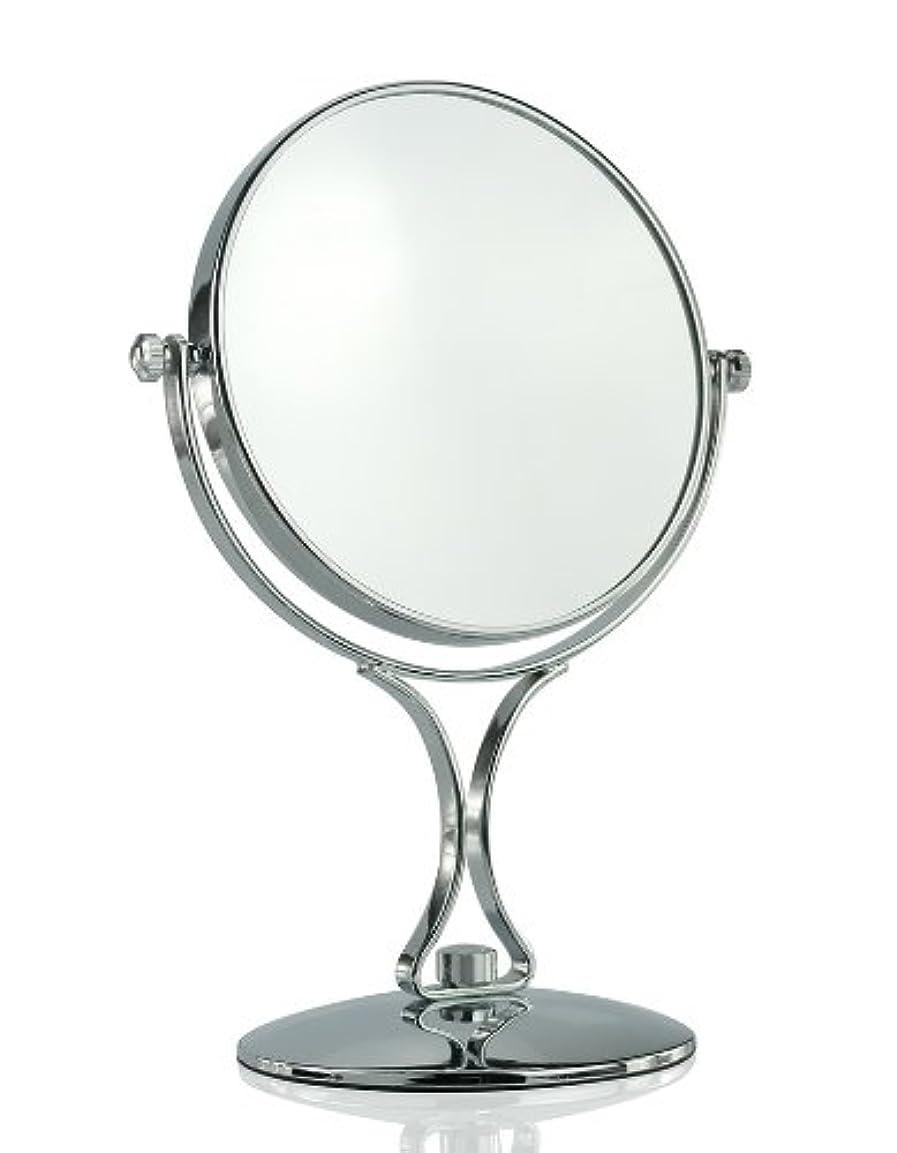栄光ラウズ報奨金【ノーブランド品】拡大鏡5倍と等倍の両面化粧鏡 スタンドミラー