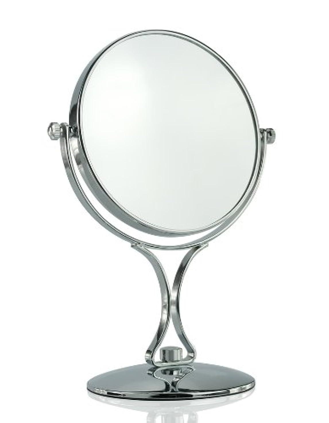 空気火山学者ボート【ノーブランド品】拡大鏡5倍と等倍の両面化粧鏡 スタンドミラー