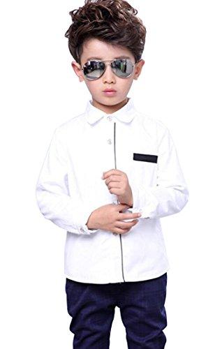 b4fa090f4bc25 Iypurkmn 子供 フォーマル シャツ キッズ yシャツ 白シャツ キッズ 結婚式 入学式 卒業式 シャツ 長袖 90 100 110 120  130 140 ·   ⇒ Amazon.co.jp