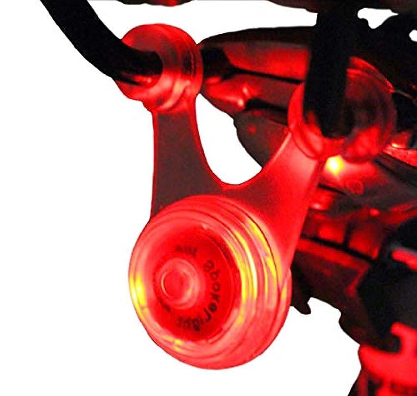 軽く行騒々しいスポーク LED ライト 自転車 サイクル 用 ぶら下げ 式 防水 シリコン テール ランプ 早 点滅 遅 点滅 点灯 の 3 パターン クリーニング クロス セット (1. レッド 赤)