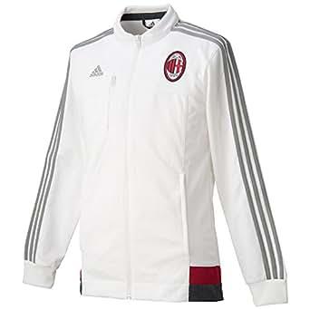 (アディダス)adidas サッカー ACミラン アンセム ジャケット 2 JXJ88 AA1658 コアホワイト/CH ソリッドグレー/ビクトリーレッド J/L