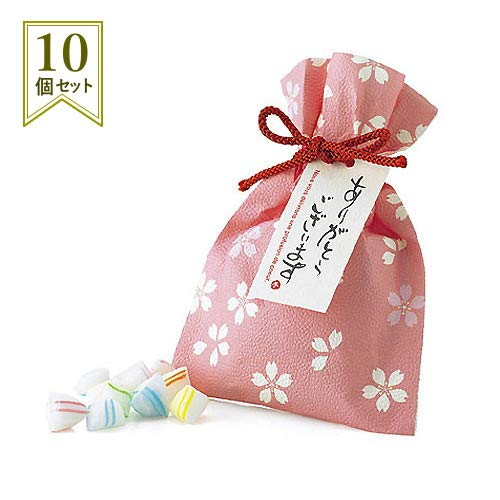 お礼 お返し 退職 プチギフト お菓子『花びより キャンディー』ありがとう 感謝 会社 挨拶 結婚式 歓迎会 個包装 大量 業務用 (10個セット)