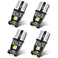 SEALIGHT T10 LED ホワイト 高輝度 キャンセラー内蔵 ポジションランプ ナンバー灯 ルームランプ 3030LEDチップ搭載 12V 2W 4個入