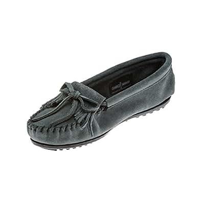 (ミネトンカ) MINNETONKA モカシン キルティ KILTY SUEDE MOC キルティ モカシン スエード モック モカシン レディース 本革 靴 23cm(US6) STORM_BLUE(409) [並行輸入品]
