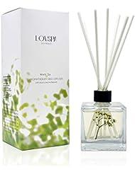 LOVSPA ホワイトティーの香り付きリードディフューザーオイルとスティックギフトセット | ウッディシダーとバニラのさりげない香りで癒されるスパの香り | 新築祝いのギフトに最適 | アメリカ製