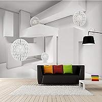 Lcymt 写真の壁紙3Dステレオジオメトリ球現代建築スペース壁画リビングルームの寝室の背景の壁カバー-120X100Cm