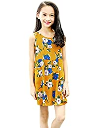 d2032a240f696 歳末売り出し 女の子 花柄 ノースリーブ ドレス ガールズ ワンピース 子供服 可愛い 通園 通学 キッズ