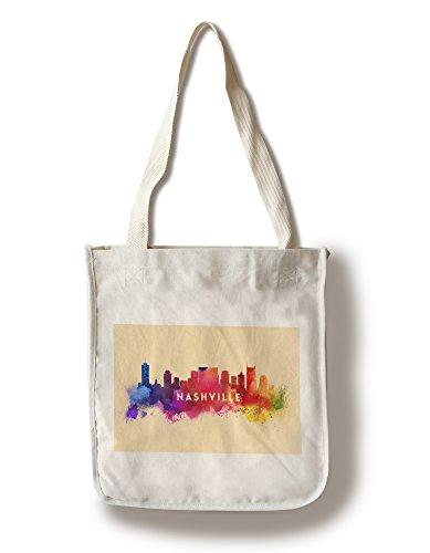 ナッシュビル、テネシー州–Skyline抽象 Canvas Tote Bag LANT-57848-TT