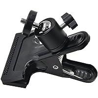 MyArmor どこにでも挟める 雲台 360度回転 1/4インチネジ カメラ ミニ 三脚 フラッシュ ホルダー ボールヘッド ブラケット カメラマウント カメラスタンド Gopro Hero/カメラ/SpeedLite/ストロボ/スピードライト/SLR/DSLR等各種撮影機材用 (クリップ式)