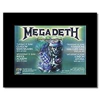 MEGADETH - UK Tour 2007 Mini Poster - 21x13.5cm