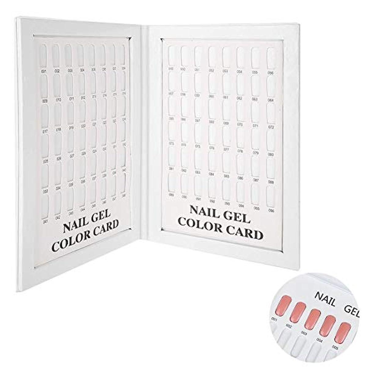 主張活気づけるバリーネイルジェルポリッシュカードディスプレイボード、96色ネイルジェルディスプレイチャートブック表示便利な用途サロンネイルアート