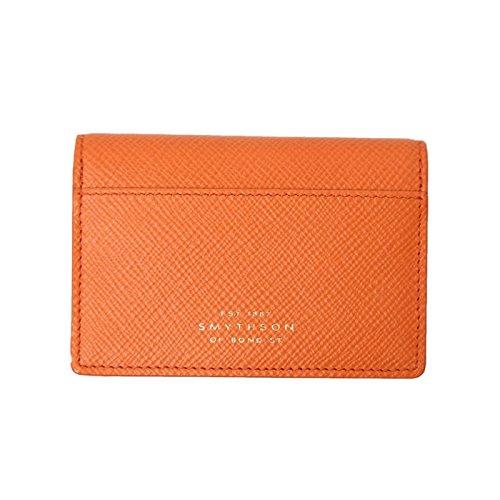 【SMYTHSON(スマイソン) 】ブラウン オレンジ 名刺入れ カードケース 無地 PAPAYA [並行輸入品]