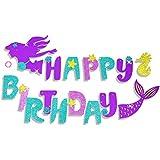 誕生日バナー  マーメイド  happy birthdayパーティー  可愛い 女の子 子供 大人  半歳 一歳 18歳誕生日飾り パーティー飾り付けセット