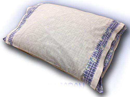 日本製 そばがら枕 側サイズ 30×40cm ブルー系で柄はおまかせ 小さめです...