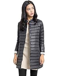 Showlovein 春秋冬レディース超薄いダウンジャケット 軽量ダウンコート 保温性能が高い防寒服