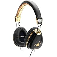 iDance Funky100 Dual Driver with Premium Ear Cup - Black/Gold