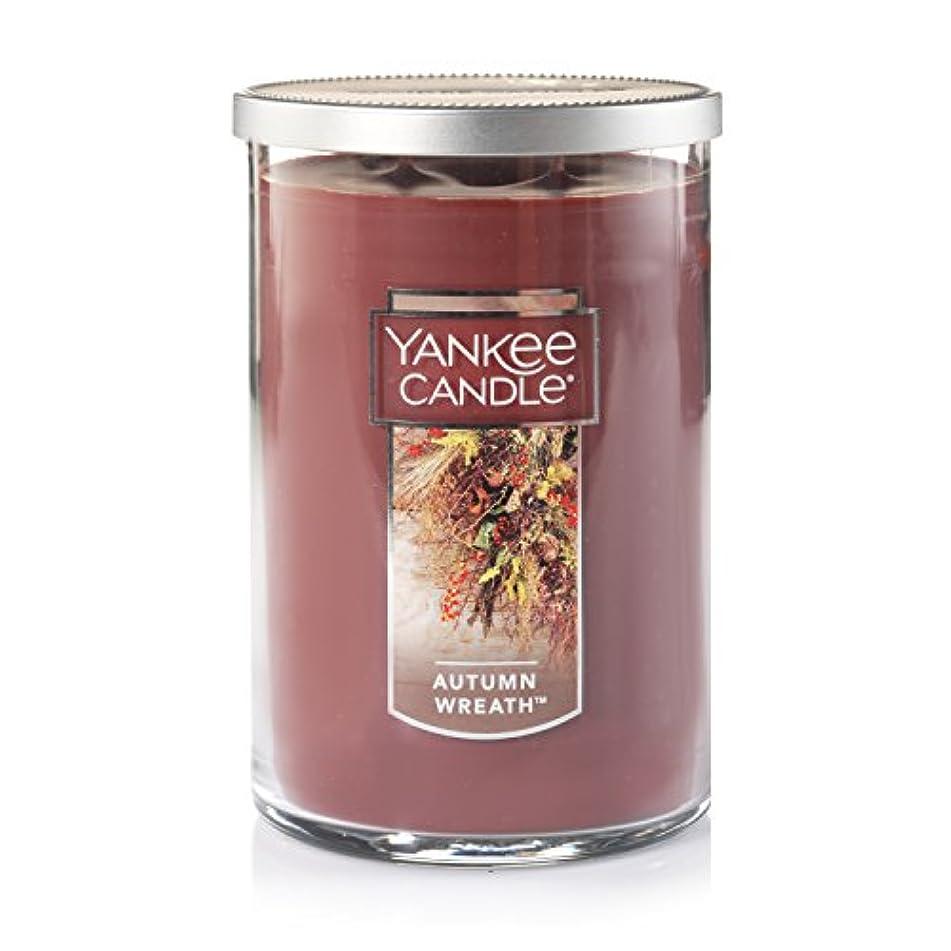 させる甘やかす事Yankee Candle Autumn Wreath, Food & Spice香り Large 2-Wick Tumbler Candle ブラウン 1121401