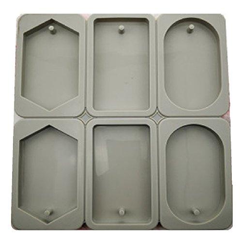 RoomClip商品情報 - 【SDMstoreハンドメイド素材】3種類 六角 長方形 楕円 タグ 型 紐通し 付き シリコンモールド アロマストーン サシェ アロマワックスバー 粘土 オルゴナイト ハンドメイド シリコン