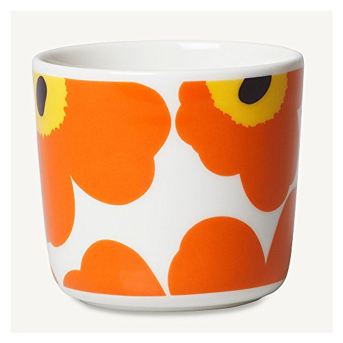 marimekko UNIKKO ラテマグ【単品】ホワイト×オレンジ 75(124)【67849】コーヒーカップ ウニッコ マリメッコ