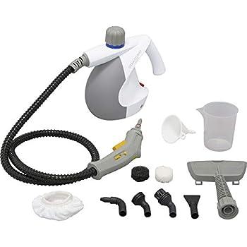 アイリスオーヤマ スチームクリーナー コンパクトタイプ 16点セット 120cmロングホース 除菌 消臭 軽量 ホワイト STM-304N-W