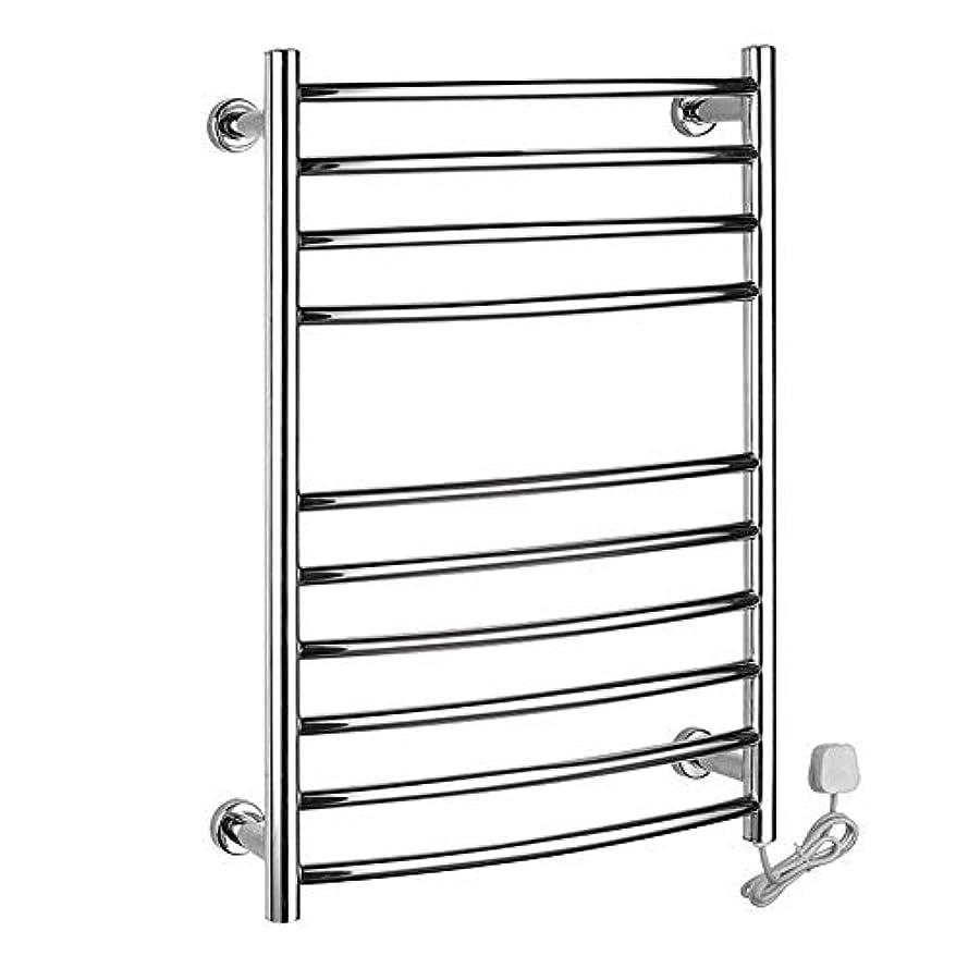 304ステンレス鋼の電気タオル掛け、浴室の乾燥の棚、タオル掛けのラジエーター、壁に取り付けられた暖房タオル掛け750X520X125mm