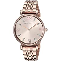 Emporio Armani Women's 'Dress' Quartz Stainless Steel Casual Watch, Color:Pink (Model: AR11059)