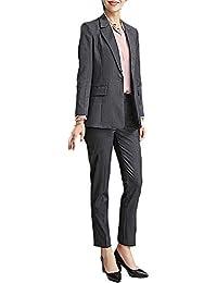 レディース 2点セットスーツ グレー オフィス 就活 ビジネス 通勤 リクルート 事務服 スカートスーツ パンツスーツ