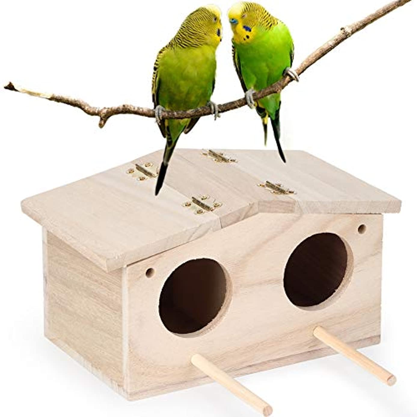 リレーする必要があるメルボルンBirdHouse、木製ペットの鳥の巣の家の繁殖ボックスオウムのツバメのケージアクセサリー