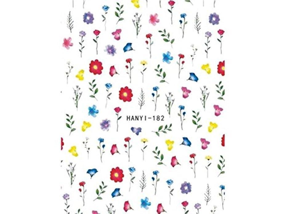 包帯ドリンクベルベットOsize ファッションカラフルな花ネイルアートステッカー水転送ネイルステッカーネイルアクセサリー(示されているように)
