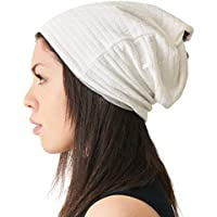 Mens 100% Organic Cotton Slouch Beanie Neck Warmer Headband Womens Chemo Hat