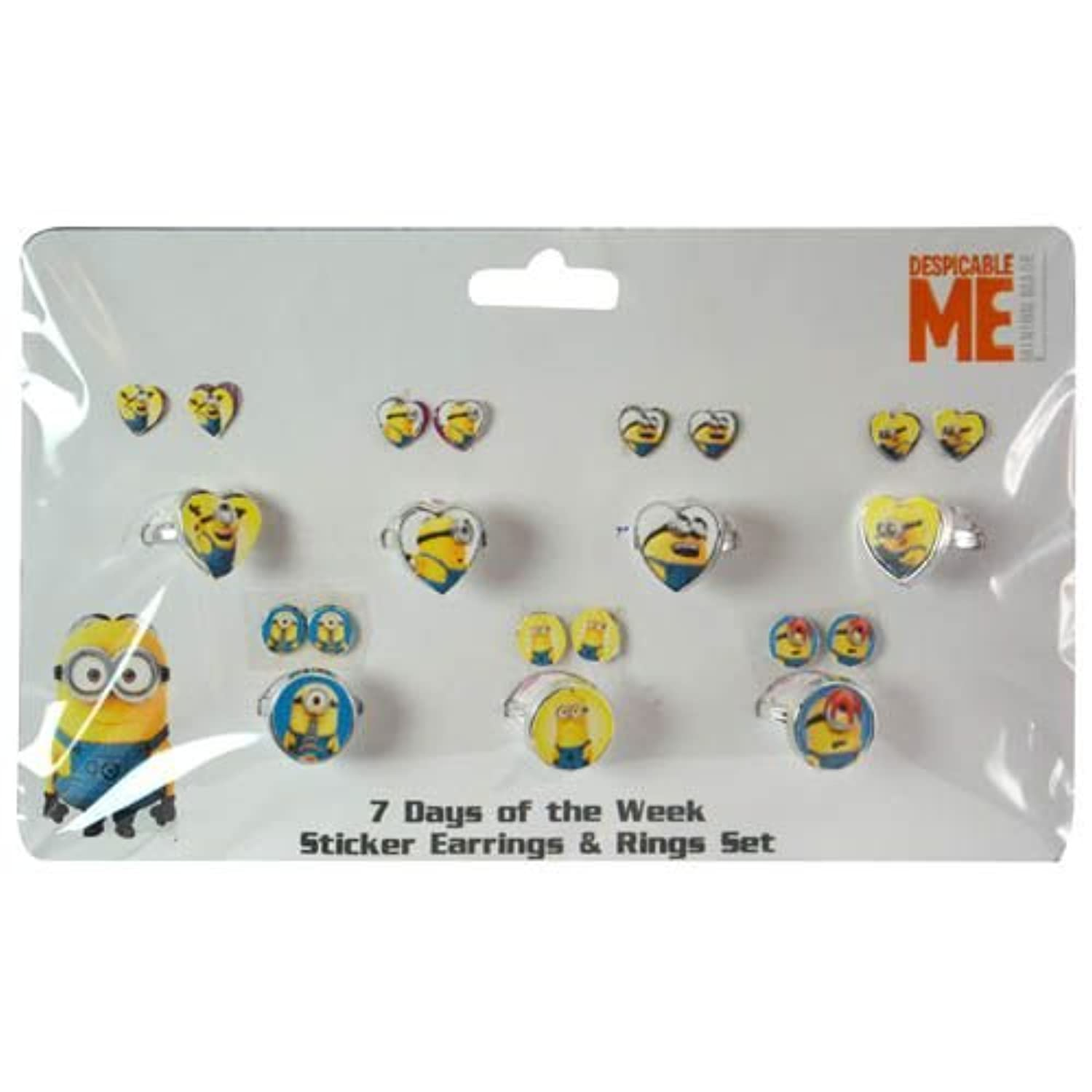WeGlow International Minions Days of the Week Earring and Ring Set (Pack of 2) by Virginia Toy [並行輸入品]