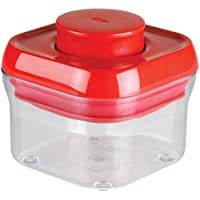 OXO 保存容器 密閉 プラスチック 0.3L ポップコンテナ スモールスクエア ミニ レッド 1233281