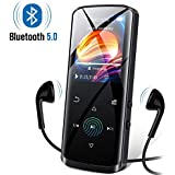 Mp3 Player,8GB Mp3 Player with Bluetooth,Built-in Speaker,Portable HiFi Lossless Sound Music Player with FM Radio Voice Recorder Touch Button with Screen Support up to 128GB(Black)