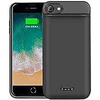 BeeFix iPhone6/6S/7/8兼用 バッテリー内蔵ケース 5000mAh 充電ケース ケース型バッテリー iphone6sバッテリーケース 大容量 240% バッテリー容量追加-4.7インチ用 (黒)