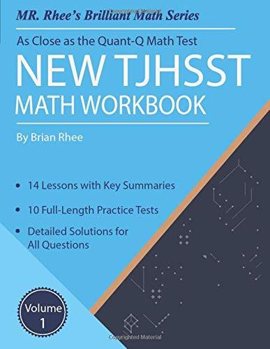 Download New TJHSST Math Workbook Volume 1: Advanced Workbook for the Quant-Q Math Test 1794340904