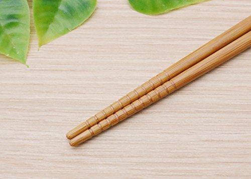 イシダ 『日本製の箸』 抗菌すす竹 千筋 23cm 5膳組 67136-1