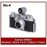 日本立体カメラ名鑑 CANONミニチュアコレクション [4.Canon IVSb + Serenar 28mm F3.5 I + 28mm Finder](単品)